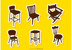 Vettori della sedia del ristorante della siluetta
