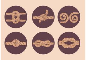 Vettore isolato corda semplice