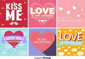 Segni d'amore tipografici vettore