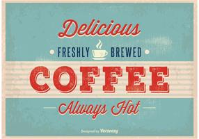 Poster vintage caffè vettore