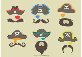 Vettore di costume da pirata