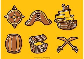 Vettori di cartone animato pirata
