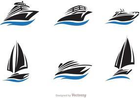 Veloce nave e barca Vector Set