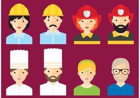 Vettori di Avatar di occupazione
