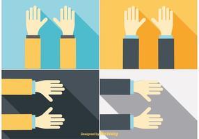 Raggiungendo le illustrazioni della mano