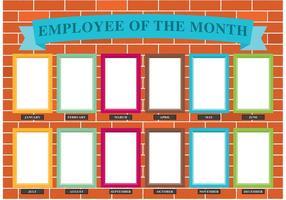 Vettore del muro del dipendente del mese