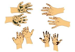 Vettori di mani sporche