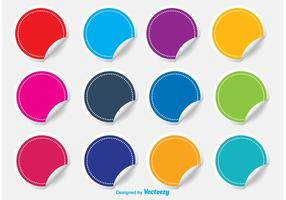 Set di adesivi colorati colorati vettore