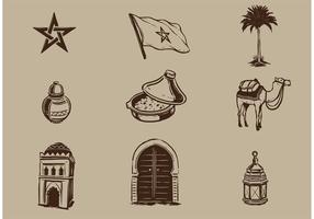 Elementi vettoriali Marocco gratis