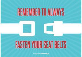 Illustrazione del segno cintura di sicurezza