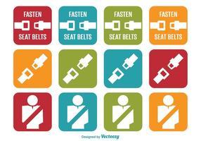 Icone Cintura di sicurezza vettore