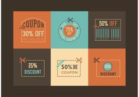 Vettore gratuito di retro coupon disegni