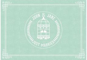 carta vettoriale appena sposata