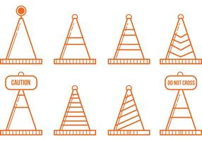Vettori icona arancione cono
