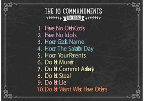 10 comandamenti gratuiti per il vettore di bambini