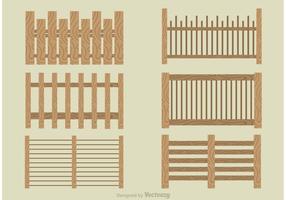 Set di vettori moderni recinzione picchetto