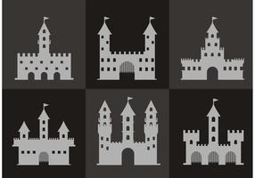 Vettori di icona del forte grigio