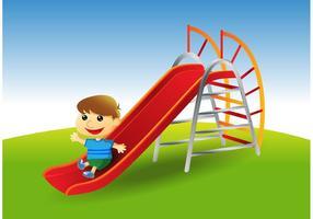 Vettore di diapositiva del parco giochi