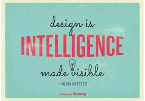 Poster tipografico vettoriale