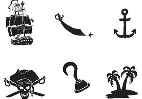 Vettore gratuito di nave pirata