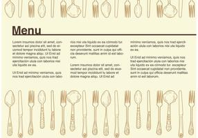 Vettore d'annata del menu di esempio