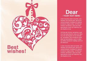 Vector Card Auguri di cuore