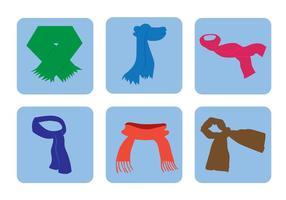 Icone vettoriali sciarpa collo