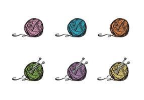 Serie di vettore di Ball of Yarn