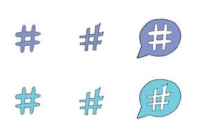 Serie di vettore di hashtag gratis