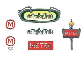 Serie di vettori della metropolitana gratuita di Parigi