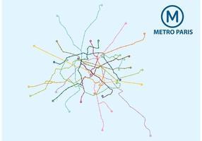 Vettore della mappa di Parigi della metropolitana