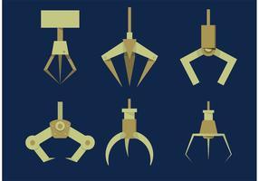 Set di artigli per macchine artiglio altamente stilizzato vettore