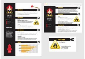 Vector Curriculum Vitae Vigile del fuoco