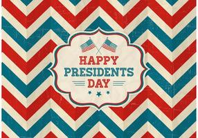 Vettore felice presidenti Day Retro Background