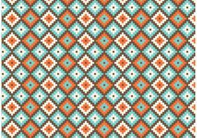 Modello senza cuciture geometrico di vettore del nativo americano