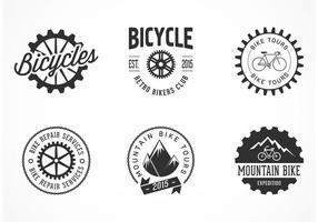 Vettore delle etichette della bicicletta