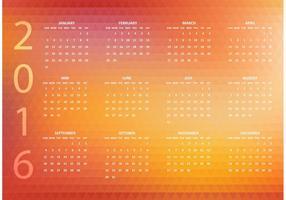 Calendario poligonale astratto di vettore astratto 2016