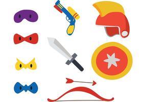 Costumi vettoriali per bambini supereroi