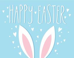 illustrazione vettoriale di orecchie di coniglio di Pasqua