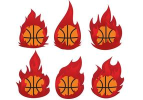 Pacchetto di pallacanestro sul fuoco