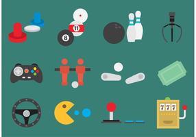 icone di vettore gioco arcade