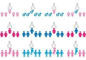 Concetto di vettore dell'icona di genere