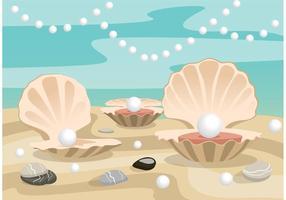 Sfondo di conchiglia di perle vettore