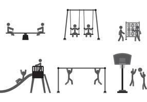 Vettori di giochi per parco giochi