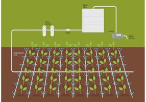 Vettore del sistema idrico di irrigazione