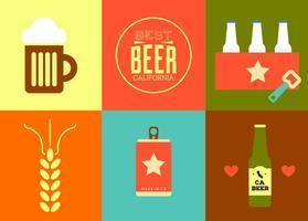 Vettori di birra californiana