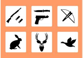 Caccia icone vettoriali