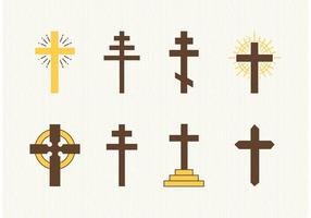 vettore di croci cristiane gratis