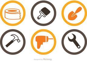 Vettore di icone di ristrutturazione casa