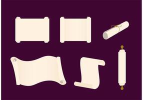 Set di pergamene di carta vettore